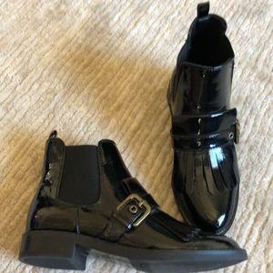 Marc Fisher Brigita 2 black patent bootie